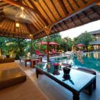 Lounge pavilion at sunset Villa Kalimaya - an elite haven