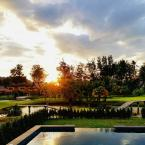Sunset over the golf course Koh Chang Hillside Pool Villa