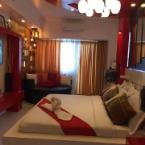 Couple Room-1 King Bed with Love Seat Cozy Units with Taal View