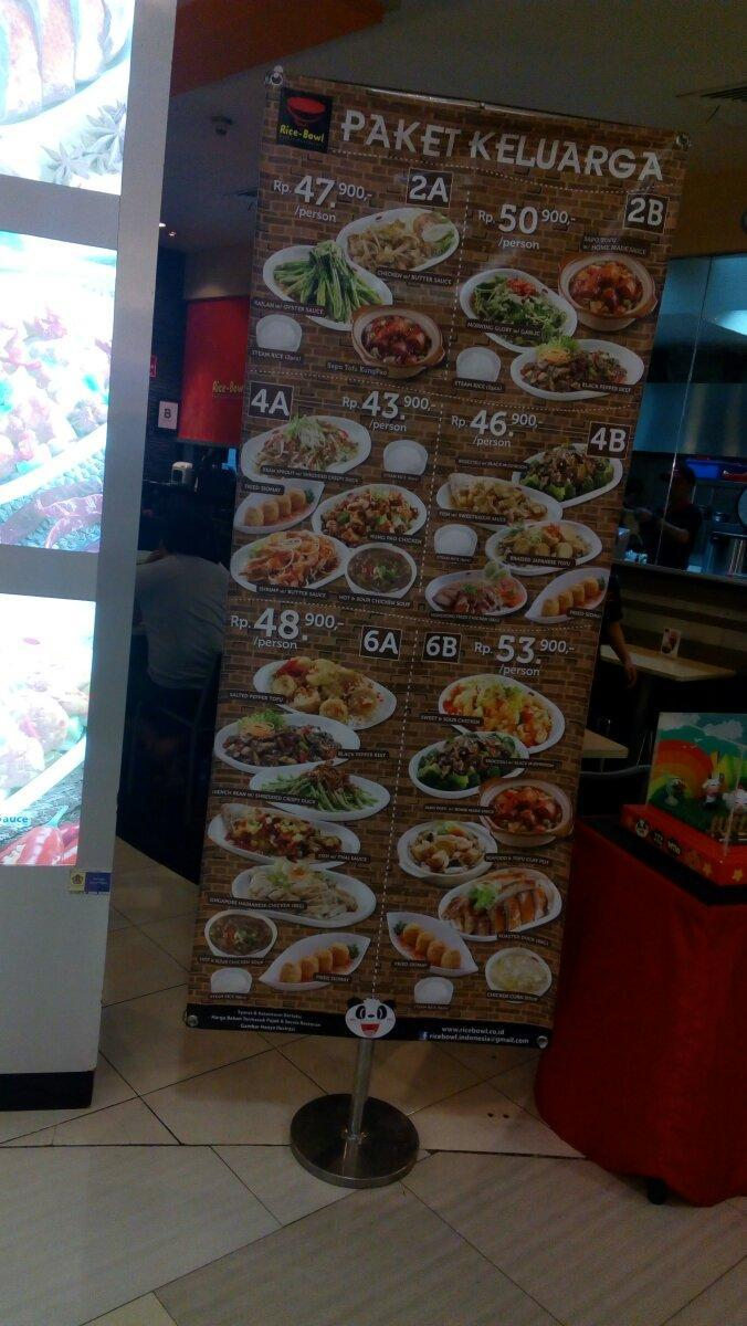 Menu Rice Bowl - Tunjungan Plaza