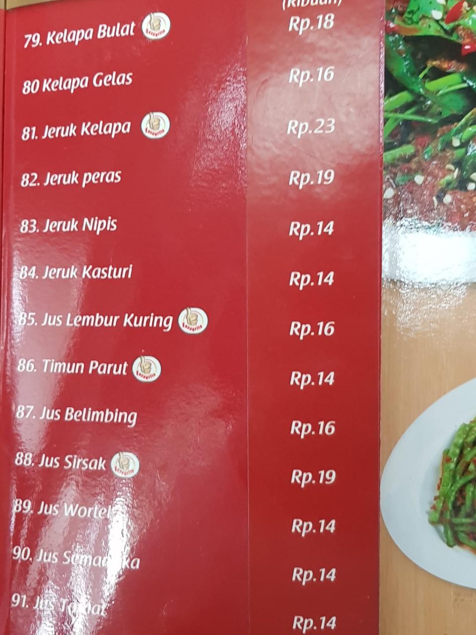 Menu Lembur Kuring - Soekarno-Hatta International Airport