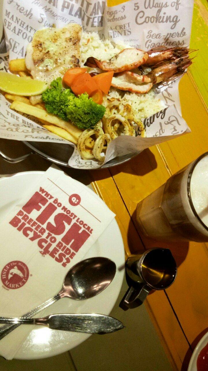 Makanan di The Manhattan Fish Market - Central Park